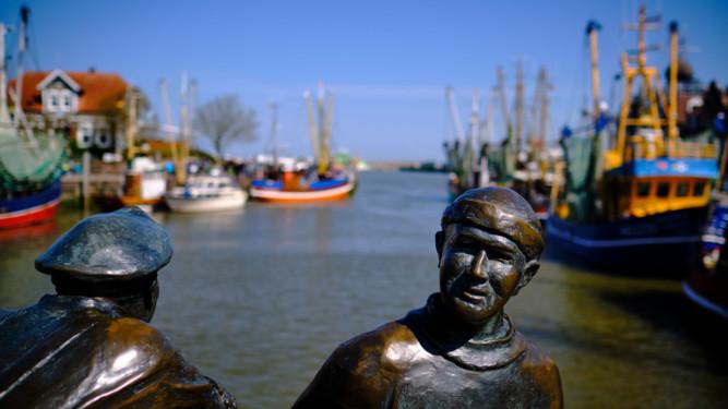 Skulpturen - Alt- und Jungfischer
